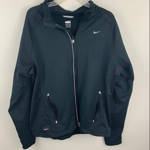 Nike Fit Dry Black Athletic Track Jacket XL